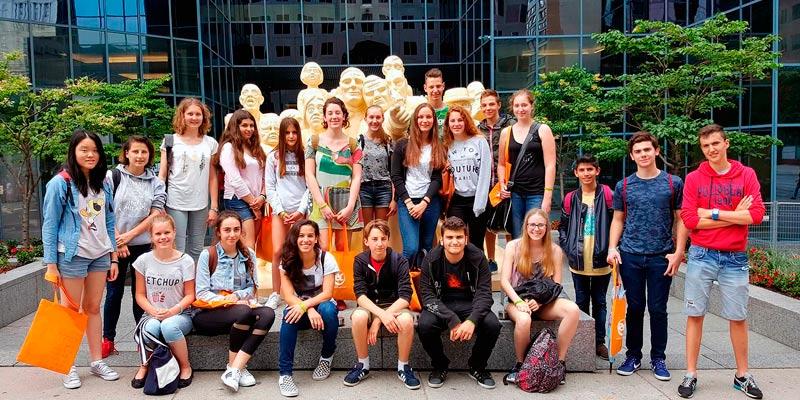Curso de inglés o francés para jóvenes en Canadá